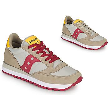 Cipők Női Rövid szárú edzőcipők Saucony JAZZ ORIGINAL Bézs / Piros