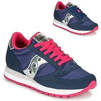 Cipők Női Rövid szárú edzőcipők Saucony JAZZ ORIGINAL Kék / Rózsaszín