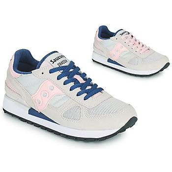 Cipők Női Rövid szárú edzőcipők Saucony SHADOW ORIGINAL Szürke / Rózsaszín / Kék