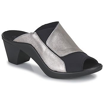 Cipők Női Papucsok Romika Westland ST TROPEZ 244 Fekete  / Arany