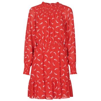 Ruhák Női Rövid ruhák MICHAEL Michael Kors SIGNATRE LOGO SMCK DR Piros