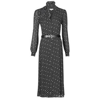 Ruhák Női Hosszú ruhák MICHAEL Michael Kors CIRCLE LOGO SHRT DRS Fekete  / Fehér