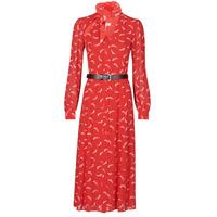Ruhák Női Hosszú ruhák MICHAEL Michael Kors SIGNTRE LOGO SHRT DRS Piros