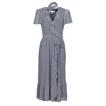 Ruhák Női Hosszú ruhák MICHAEL Michael Kors MINI BICOLR 60S FLRL DRS Kék