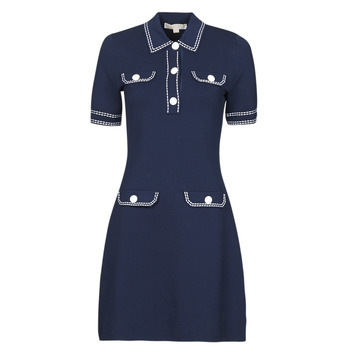 Ruhák Női Rövid ruhák MICHAEL Michael Kors CONTRAST STITCH BUTTON DRESS Tengerész