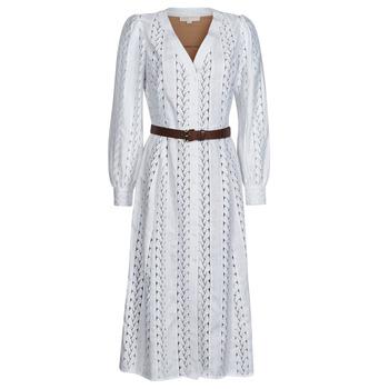Ruhák Női Hosszú ruhák MICHAEL Michael Kors ROPE STRIPES HEMP DS Fehér