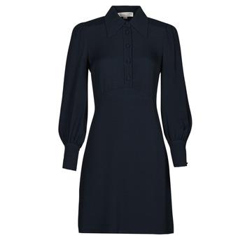 Ruhák Női Rövid ruhák MICHAEL Michael Kors VI SATIN MINI DRESS Tengerész