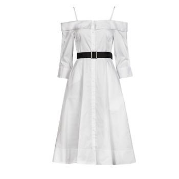 Ruhák Női Hosszú ruhák Karl Lagerfeld COLDSHOULDERSHIRTDRESS Fehér