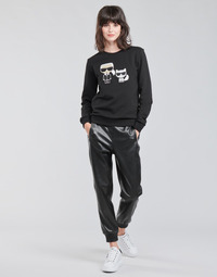 Ruhák Női Nadrágok Karl Lagerfeld FAUXLEATHERJOGGERS Fekete