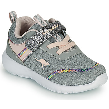 Cipők Lány Rövid szárú edzőcipők Kangaroos KY-CHUMMY EV Szürke / Rózsaszín