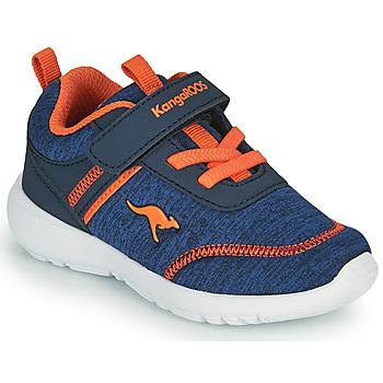 Cipők Fiú Rövid szárú edzőcipők Kangaroos KY-CHUMMY EV Kék / Narancssárga