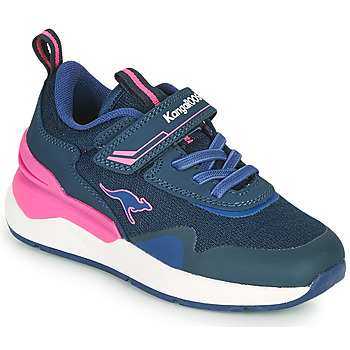 Cipők Lány Rövid szárú edzőcipők Kangaroos KD-GYM EV Kék / Rózsaszín