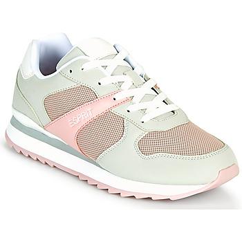 Cipők Női Rövid szárú edzőcipők Esprit AMBRO Zöld / Víz / Rózsaszín