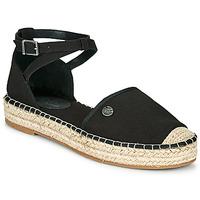 Cipők Női Gyékény talpú cipők Esprit TUVA Fekete
