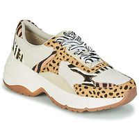 Cipők Női Rövid szárú edzőcipők Gioseppo FORMIA Fehér / Leopárd