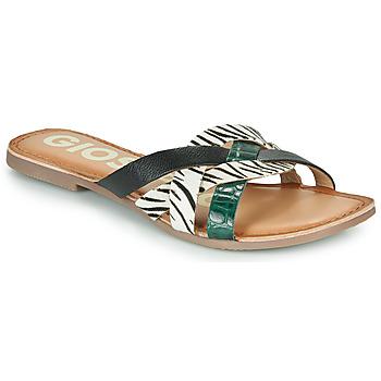 Cipők Női Papucsok Gioseppo STILES Fekete  / Fehér