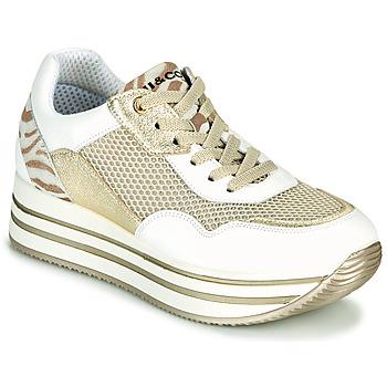 Cipők Női Rövid szárú edzőcipők IgI&CO ALMINTA Fehér / Arany