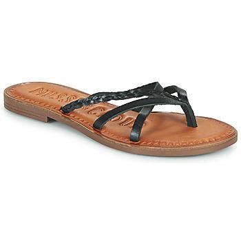 Cipők Női Lábujjközös papucsok Musse & Cloud KEOP Fekete