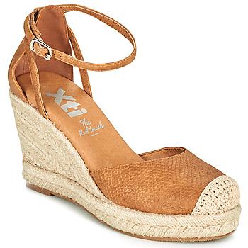 Cipők Női Gyékény talpú cipők Xti NINA Konyak