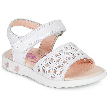 Cipők Lány Szandálok / Saruk Pablosky DROSSI Fehér / Rózsaszín