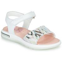 Cipők Lány Szandálok / Saruk Pablosky CAMMI Fehér / Többszínű