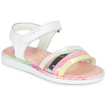 Cipők Lány Szandálok / Saruk Pablosky MOUNNA Fehér / Rózsaszín