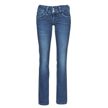 Ruhák Női Egyenes szárú farmerek Pepe jeans GEN Kék