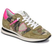 Cipők Női Rövid szárú edzőcipők Philippe Model TROPEZ X Álcáz