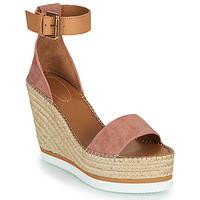 Cipők Női Gyékény talpú cipők See by Chloé GLYN Rózsaszín / Bőrszínű