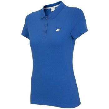 Ruhák Női Rövid ujjú galléros pólók 4F TSD007 Kék