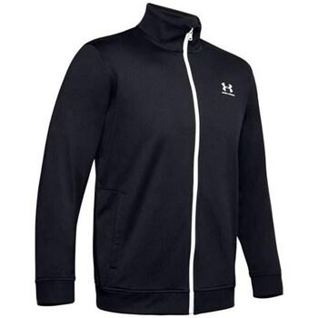 Ruhák Férfi Pulóverek Under Armour Sportstyle Tricot Jacket Fekete