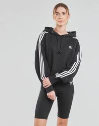 Ruhák Női Pulóverek adidas Originals SHORT HOODIE Fekete
