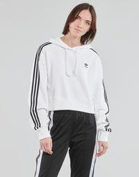 Ruhák Női Pulóverek adidas Originals SHORT HOODIE Fehér