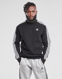 Ruhák Férfi Pulóverek adidas Originals 3-STRIPES CREW Fekete