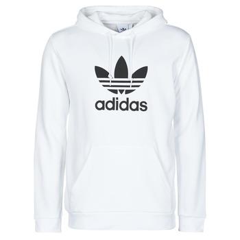 Ruhák Férfi Pulóverek adidas Originals TREFOIL HOODIE Fehér