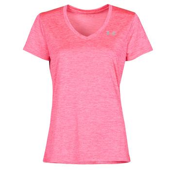 Ruhák Női Rövid ujjú pólók Under Armour TECH SSV Rózsaszín