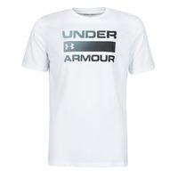 Ruhák Férfi Rövid ujjú pólók Under Armour UA TEAM ISSUE WORDMARK SS Fehér