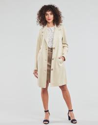 Ruhák Női Kabátok Esprit SUEDE COAT Bézs