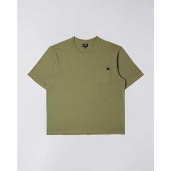 Ruhák Férfi Rövid ujjú pólók Edwin T-shirt  Oversized vert kaki