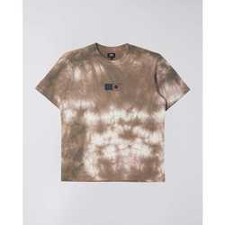 Ruhák Férfi Rövid ujjú pólók Edwin T-shirt  Synergy marron/blanc