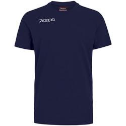 Ruhák Fiú Pólók / Galléros Pólók Kappa T-shirt enfant  Tee bleu royal