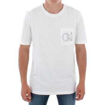 Ruhák Férfi Rövid ujjú pólók Calvin Klein Jeans J30J309612 112 OFF WHITE Blanco
