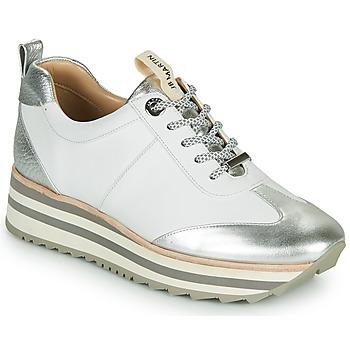 Cipők Lány Rövid szárú edzőcipők JB Martin 4CANDIO Ezüst / Fehér