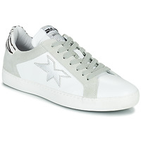 Cipők Női Rövid szárú edzőcipők Meline  Fehér / Ezüst / Zebra