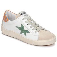 Cipők Női Rövid szárú edzőcipők Meline NK1364 Fehér / Zöld