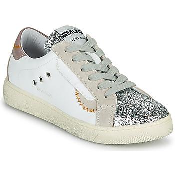 Cipők Női Rövid szárú edzőcipők Meline CAR139 Fehér / Fényes