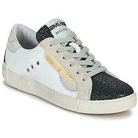 Cipők Női Rövid szárú edzőcipők Meline NKC139 Fehér / Fényes / Fekete