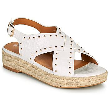 Cipők Női Szandálok / Saruk The Divine Factory LS1802J Fehér