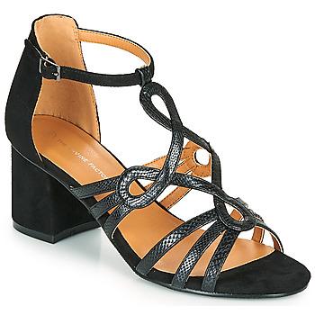 Cipők Női Szandálok / Saruk The Divine Factory QL4327 Fekete