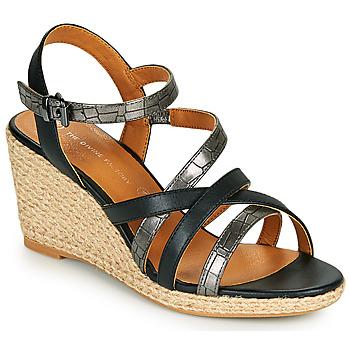 Cipők Női Szandálok / Saruk The Divine Factory QL4354 Fekete
